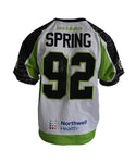 2019 Alex Spring #92 Game-Worn White Jersey