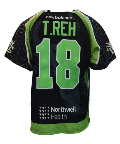2018 Troy Reh Black #18 Game-Worn Jersey