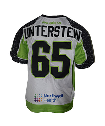 2019 Mike Unterstein #65 Game-Worn White Jersey