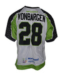 2019 Brian VonBargen #28 Game-Worn White Jersey