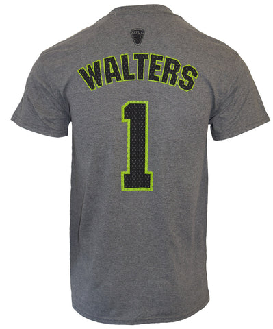 Joe Walters #1 Grey Player Tee - FINAL SALE