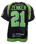 2018 Thomas Zenker Black #21 Game-Worn Jersey