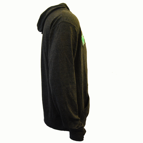 Gray Hooded Zip Up - FINAL SALE