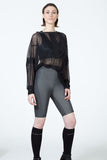 Black Reflective Short Leggings