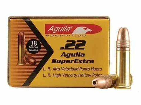 Aguila SuperExtra 22 LR 38 gr.Plated Lead Hp Box of 50