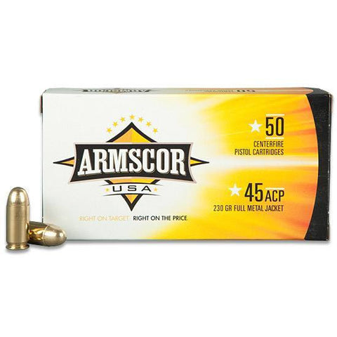 *ARMSCOR,    USA .45 ACP Full Metal Jacket, 230 Grain, 830 fps, 50 Round Box