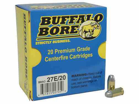 *BUFFALO BORE,    Ammunition 380 ACP 100 Grain Hard Cast Flat Nose Box of 20