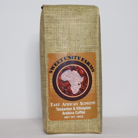 East African Supreme - 12oz, Dark Roast, Whole Beans