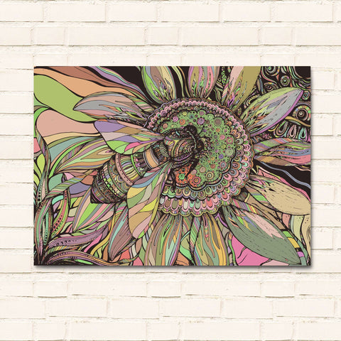 Bee Doodle - Canvas Wall Art