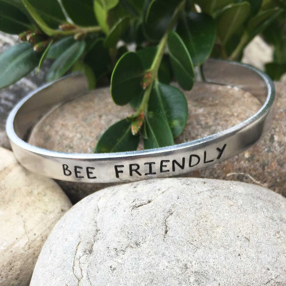 Bee Friendly - Stamped Bracelet