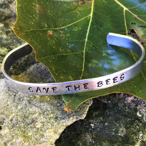 Save The Bees - Stamped Bracelet