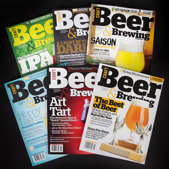CB&B Magazine 2016 Print Bundle - Craft Beer & Brewing