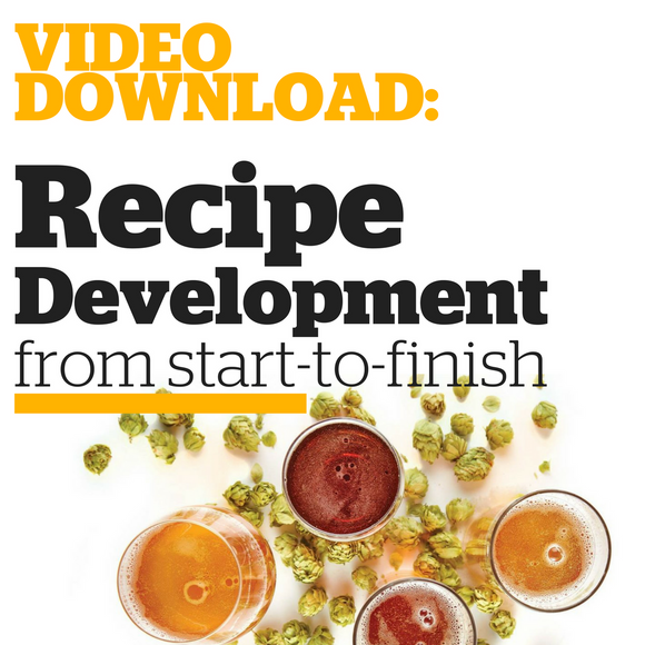 Recipe Development from Start-to-Finish  (Video Download) - Craft Beer & Brewing