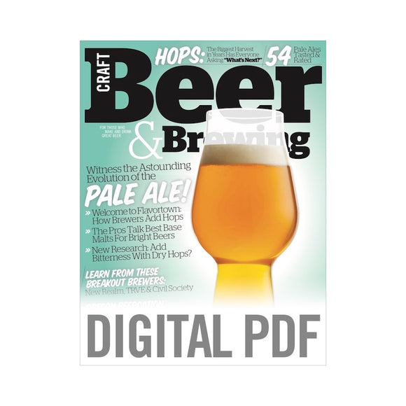 Witness the Astounding Evolution of the Pale Ale (Apr-May 2018 PDF Download)