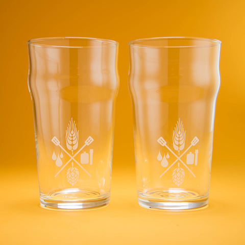 Craft Beer & Brewing 16 Oz. Nonic Pint Glasses