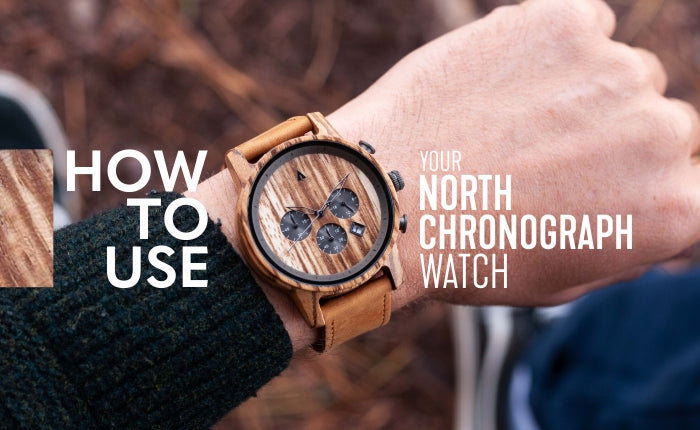 How to Use Your North Wooden Chronograph Watch