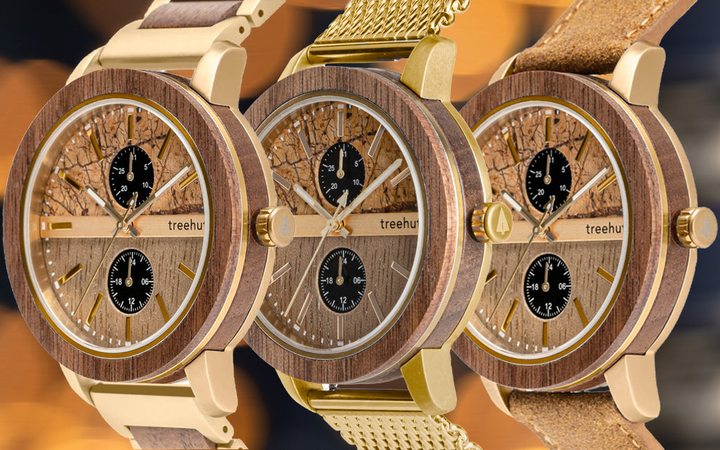 Tao in Sandstone Patina Gold | Luxury Wooden Watch For Men