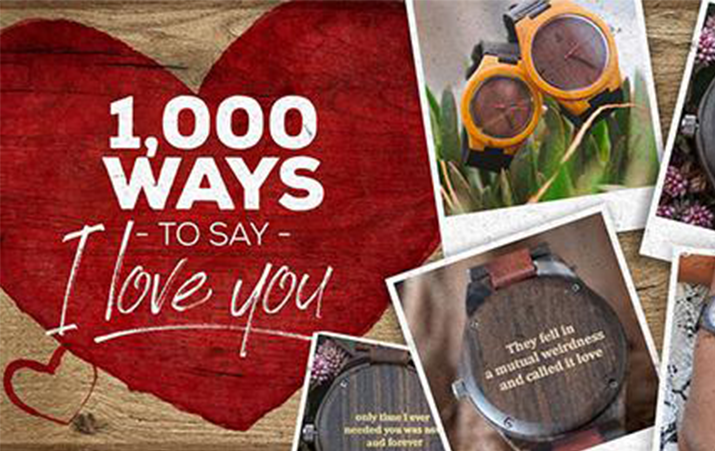 1000 Ways to Say I Love You | Engrave Your Secret Message On Wooden Watch