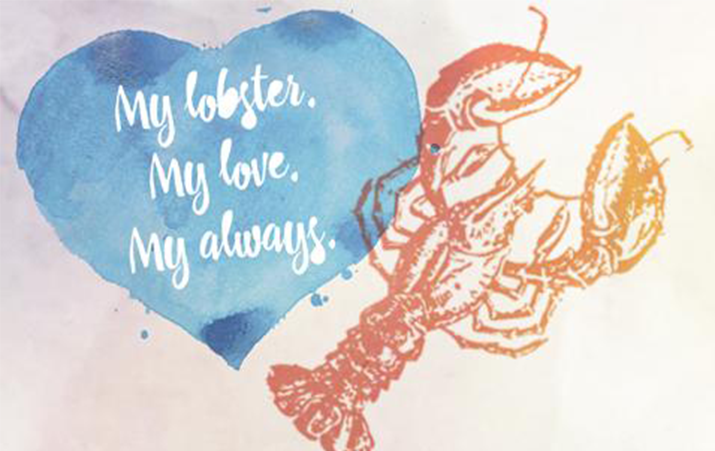 Romantic Engravings We Love: My lobster. My love. My always.