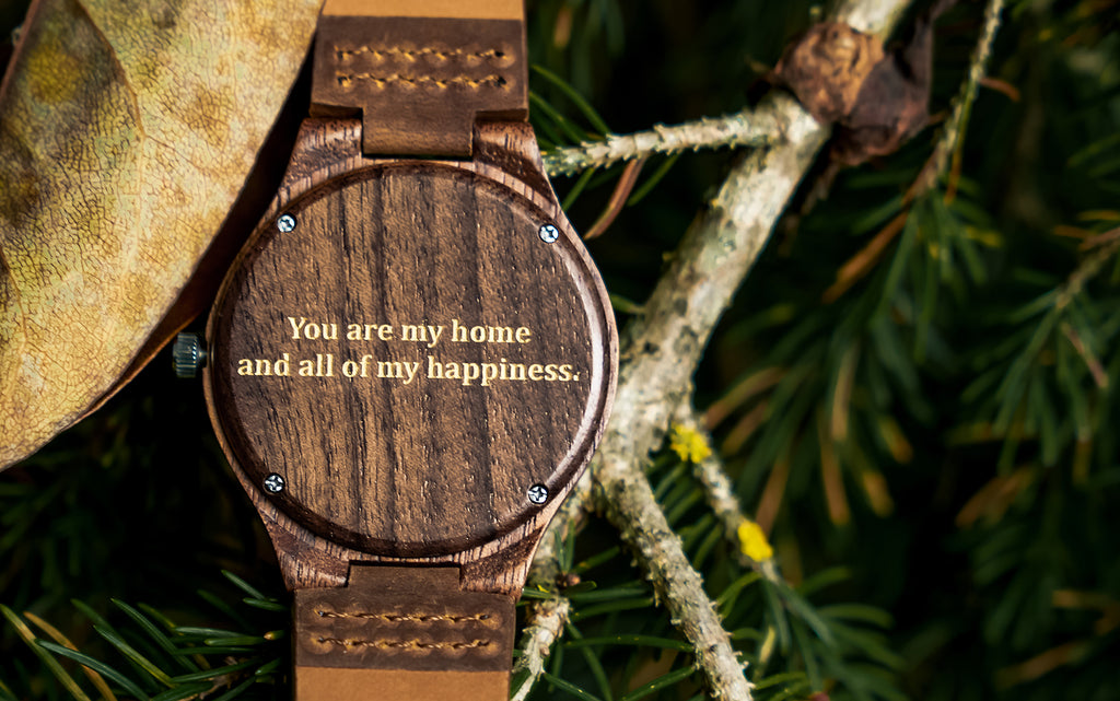 Personalized Wooden Watch for Him | Top 50 engravings for Christmas gift for your Husband