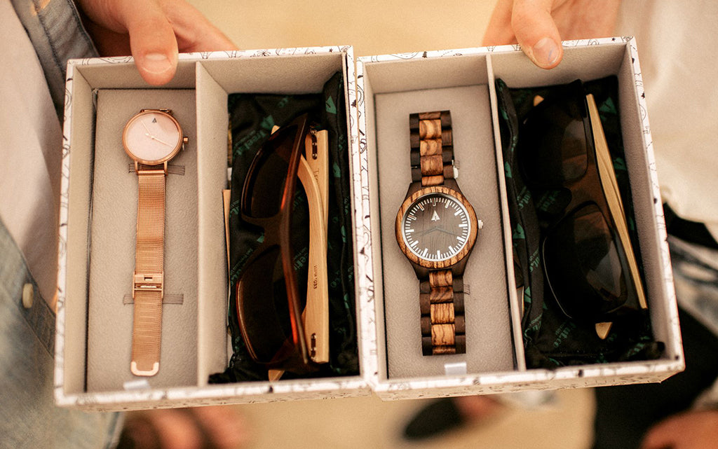 New!! Wood and Marble Watch Gift Box Sets!