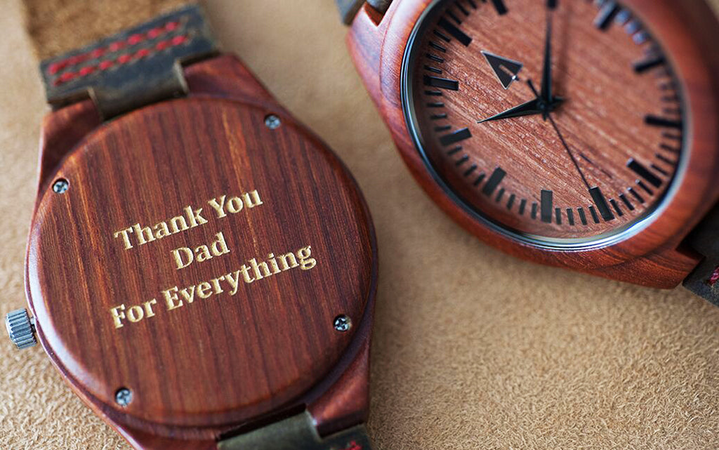 Father's Day Engravings on Your Treehut Wooden Watch