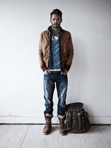 Lumbersexual Fashion Inspiration, Hiking Boots, Flannels, Buttonup shirts, Chambray, Denim, Beard, Manbun, Classy, Hipster
