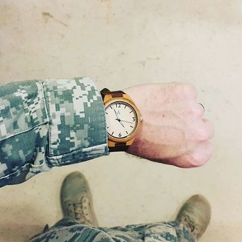 @williej322 showing off his Tree Hut wood watch in South Korea