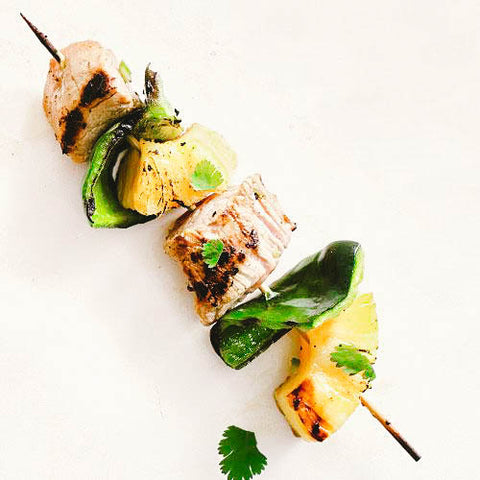 11 Tasty Recipes for a Fathers Day Cookout: Pork-and-Pineapple Kebob Skewers