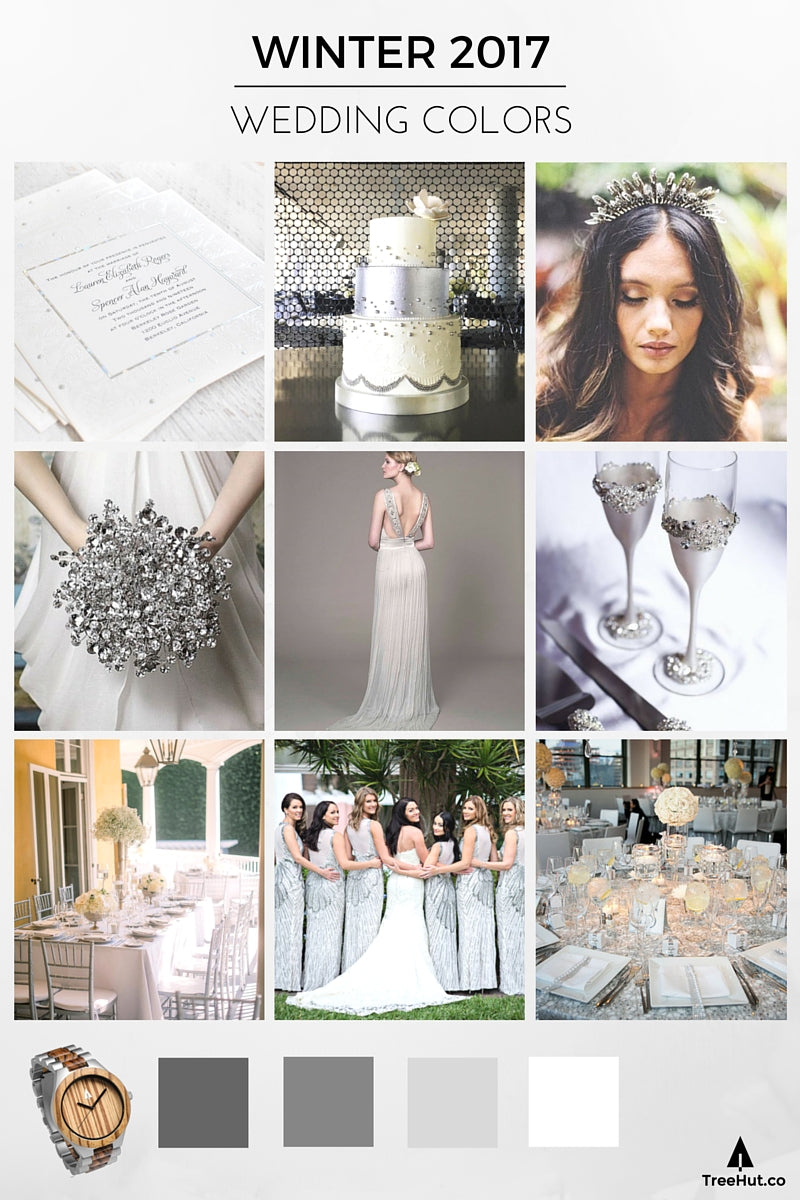 2017 Wedding Colors: Silver Monochromatic Palette