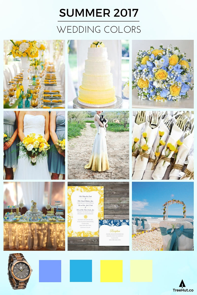Walk Down the Aisle in 2017s Popular Wedding Colors Tree Hut