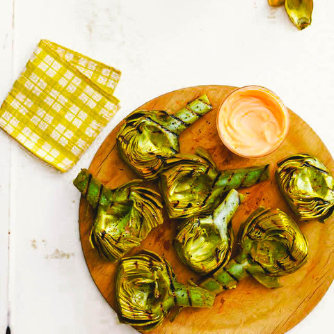 11 Tasty Recipes for a Father's Day Cookout: Grilled Artichokes with Honey Dip
