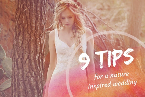~ 9 Tips for a Nature Inspired Wedding featuring Tree Hut Wooden Watches ~