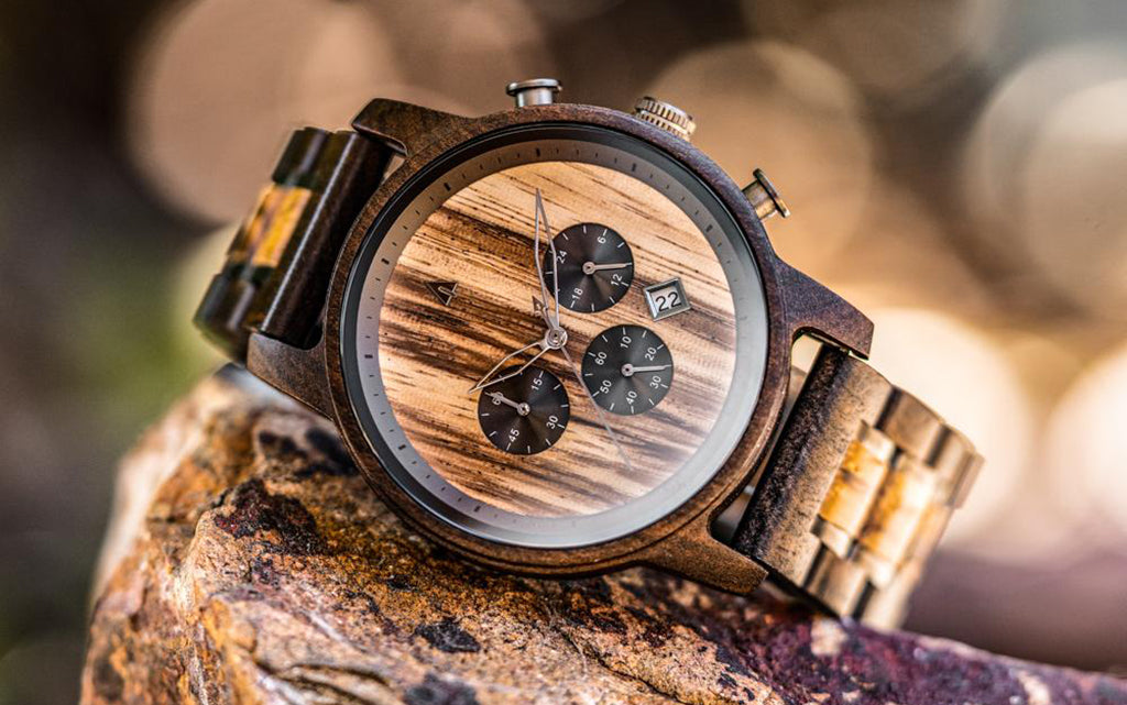 North Ebony Zebrawood Chrono Watch
