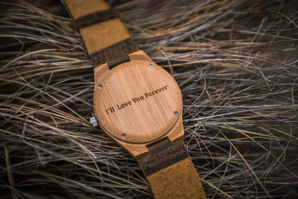 Treehut Co Engraved Watch