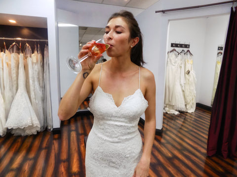 Champagne, Strawberries and Wedding Dress Shopping