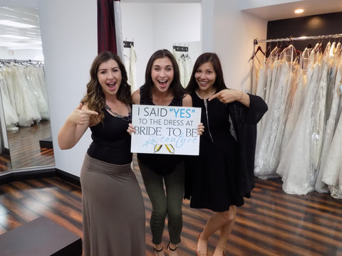 Say yes to the dress Happy wedding gown shopping day
