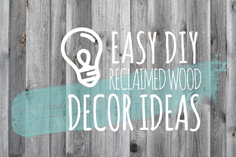 Easy DIY Rustic / Reclaimed Wood Decor Projects Ideas Inspiration