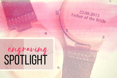 Treehut Wood Watches with Leather Bands: Engraving Spotlight Personalized