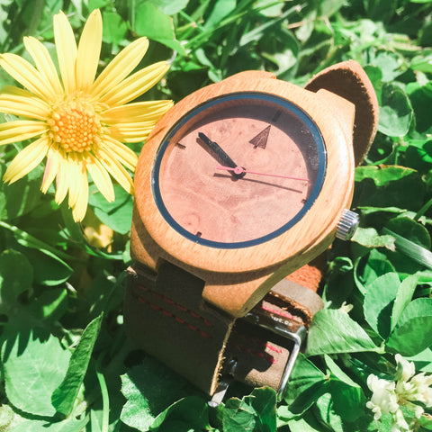 The bamboo wooden watch is equipped with high quality Japan quartz movement. Diameter of the dial 1.7 inches. Strap is made of genuine leather. Face of the watch is made from all natural rough walnut burl.  • Handmade in San Francisco, USA • Watch Made from Real Wood • Japanese Quartz Movement  • Strap Made from Genuine Leather • High Quality Soft Genuine Leather for Your Everyday Wear • Minimalist Design • Durable & Long Lasting • Next Business Day Shipping Including Engraving