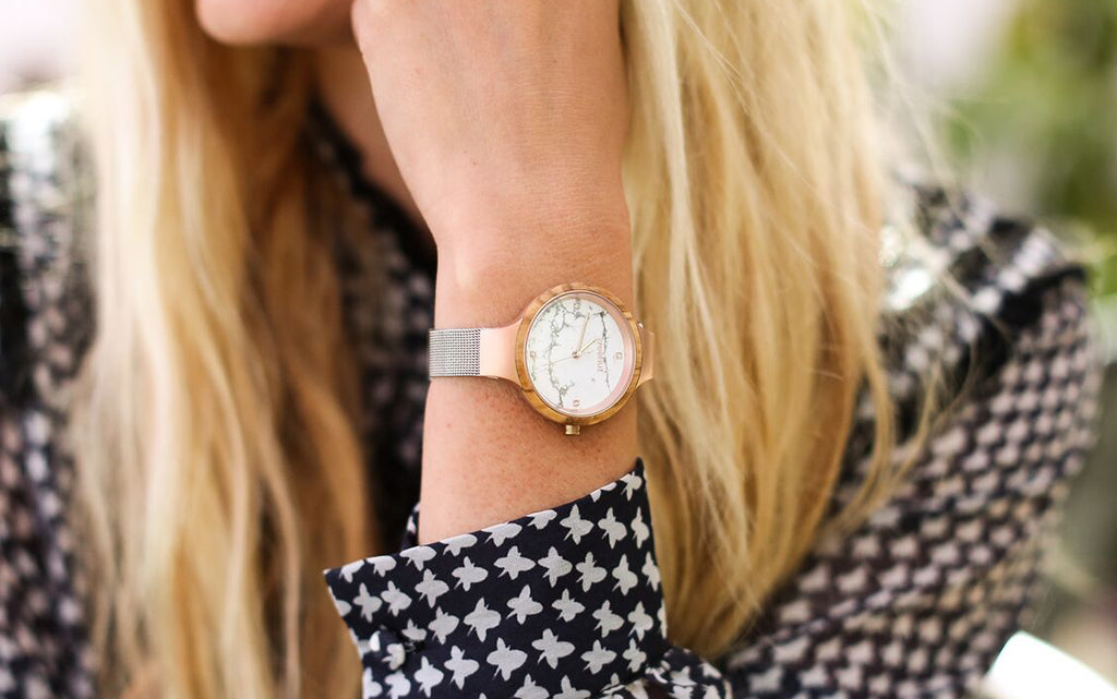 Womens Modd Collection Marble + Stainless Steel Watch For Women