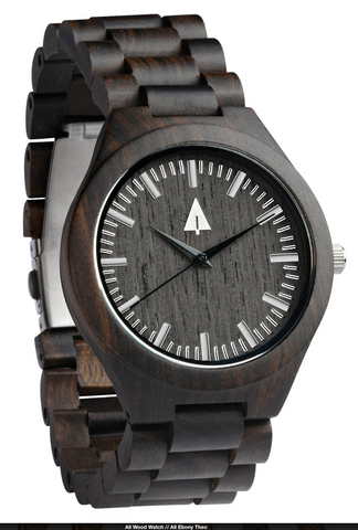 all ebony theo watch - treehut's holiday gift guide for him - city lover
