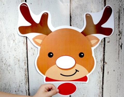image about Pin the Nose on the Reindeer Printable identified as Tree Hut Xmas Get together Activity Guidelines Treehut