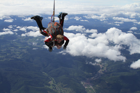 skydiving is a thrill like love | treehut wooden watches