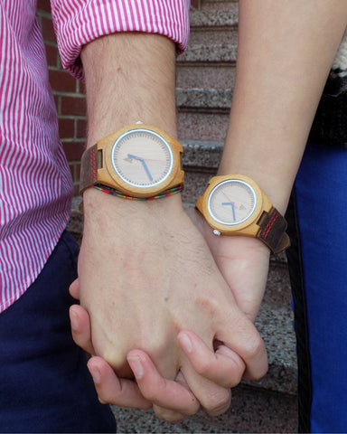 Tree Hut Classic Wood Watch for Couples