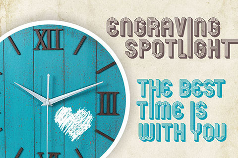 Engraved Wood Watch Spotlight: The Best Time is With You