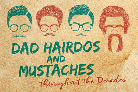 evolution of dad hairstyles and facial hair