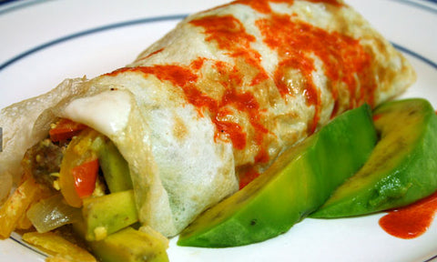 tex mex breakfast burrito paleo diet breakfast recipes quick and healthy | content by Tree Hut Co.
