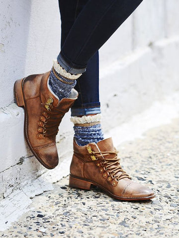 Style Hack: Use Colorful and Cozy Socks to Pull Off Hiking Boots Effortlessly and Stylishly