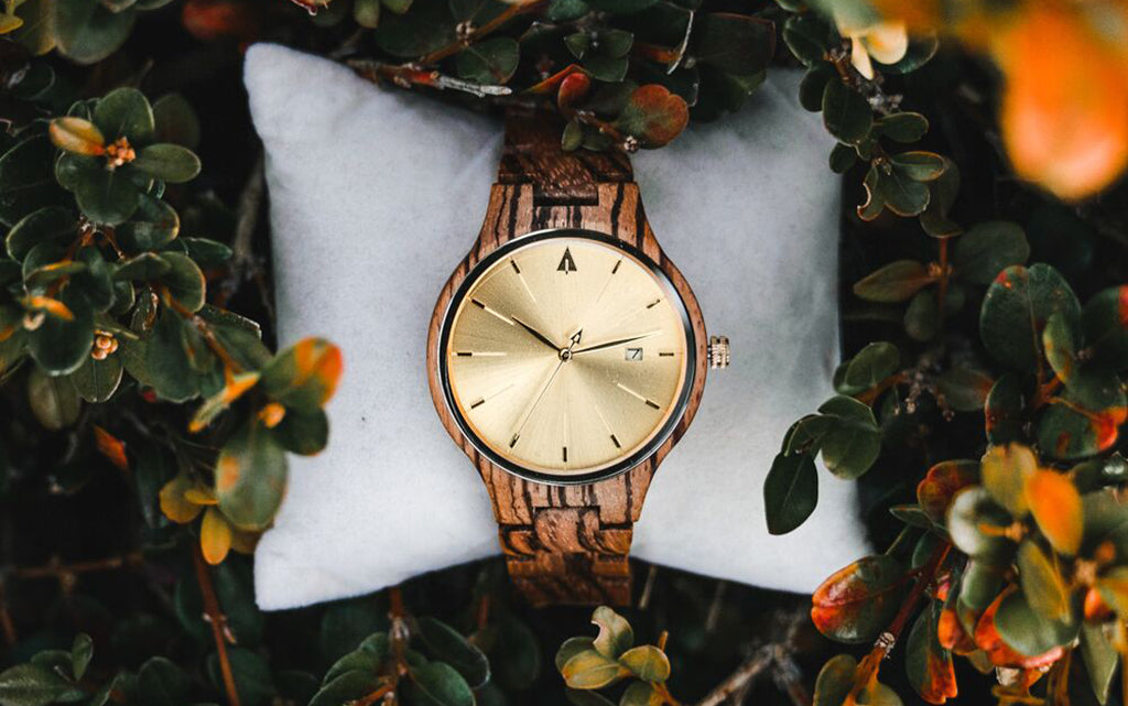 Solstice Zebrawood Gold Watch For Women
